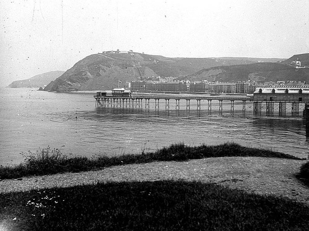 Early Aberystwyth Pier by Tim Phillips