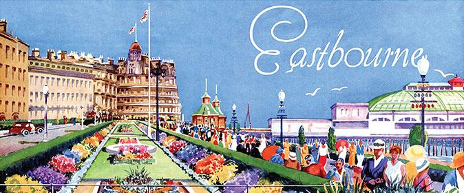 Eastbourne Tea Towel Pier & Carpet Gardens